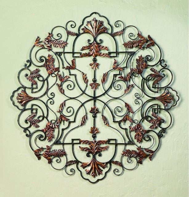 "38"" Staggered Divinity Handmade Iron Wall Sculpture"