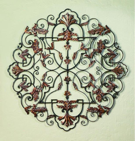 "50"" Staggered Divinity Handmade Iron Wall Sculpture"