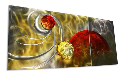 Solar Flare Three-Panel Metal Wall Art