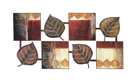 Dancing Leaves Abstract Metal/ Wood Wall Art
