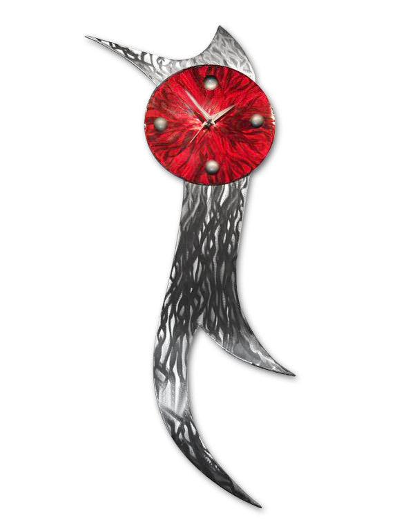Hestia Modern Wall Clock Sculpture