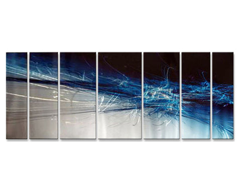 Deep Blue Abstract Sea Set of 7