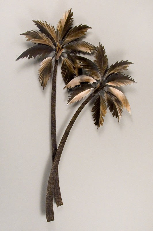 Gently Swaying Palm Trees Metal Art Sculpture