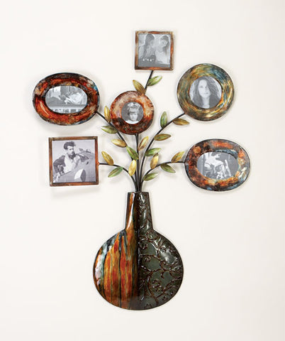 Flowers of Life Metal Wall Sculpture
