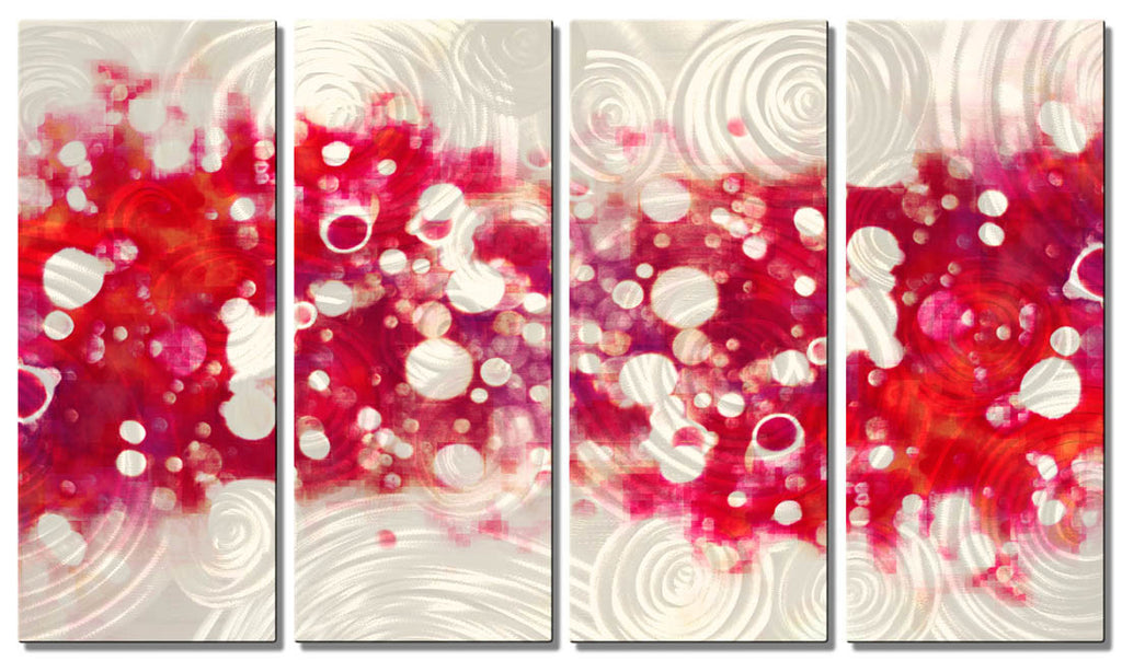 Scarlet Effervescence Abstract Art