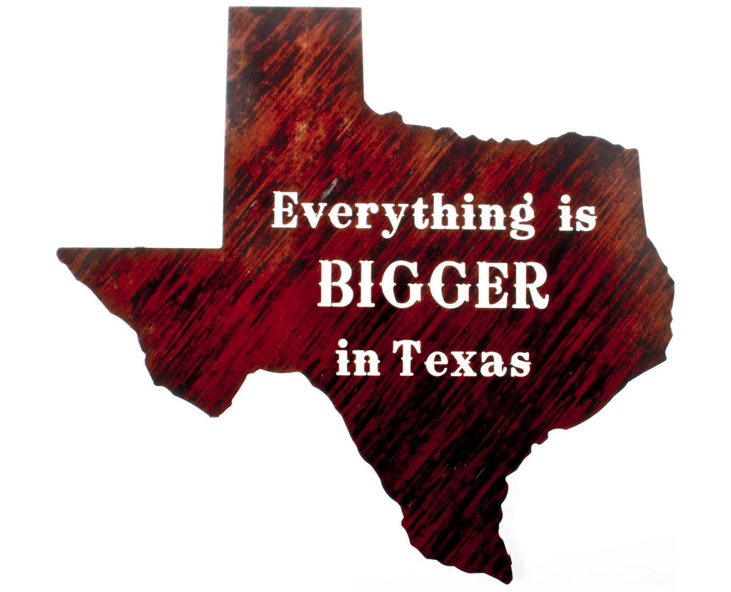 Bigger in Texas Metal Wall Art