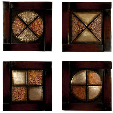 Armando Contemporary Metal Wall Plaques Set of 4