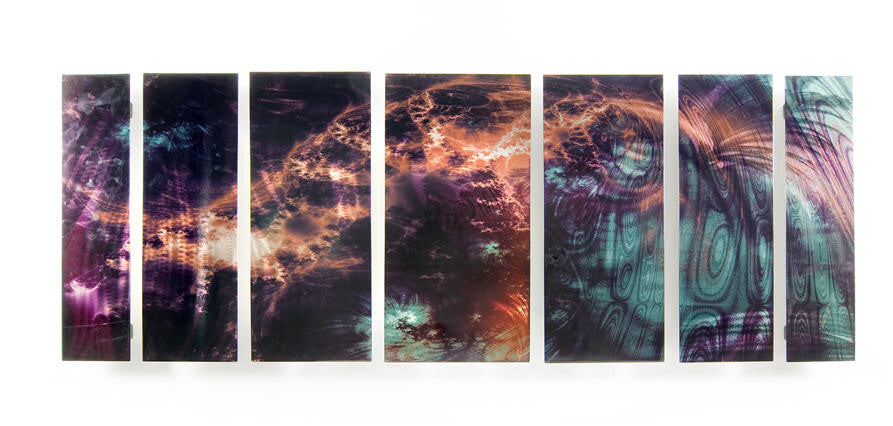 Aurora Borealis in Abstract Set of 7