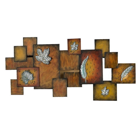 Autumn Honorarium 3-D Leaves Metal Wall Hanging