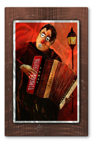 Clown with Accordion Multi-Layered Metal Wall Hanging