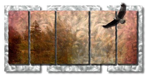 Eagle's Piney Point Metal Wall Art
