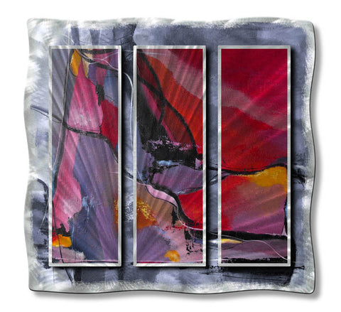 Into the Colorful Abyss Abstract Metal Wall Art