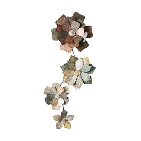 Country Pinwheels Floral Metal Wall Sculpture