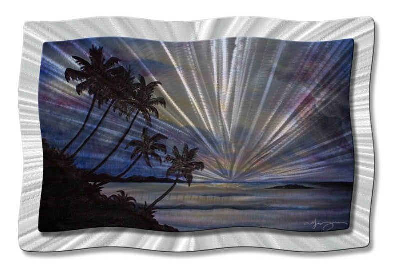 Midnight Lagoon Tropical Wall Art