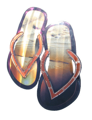 Flip-Flop Beach Sandals Metal Wall Hanging