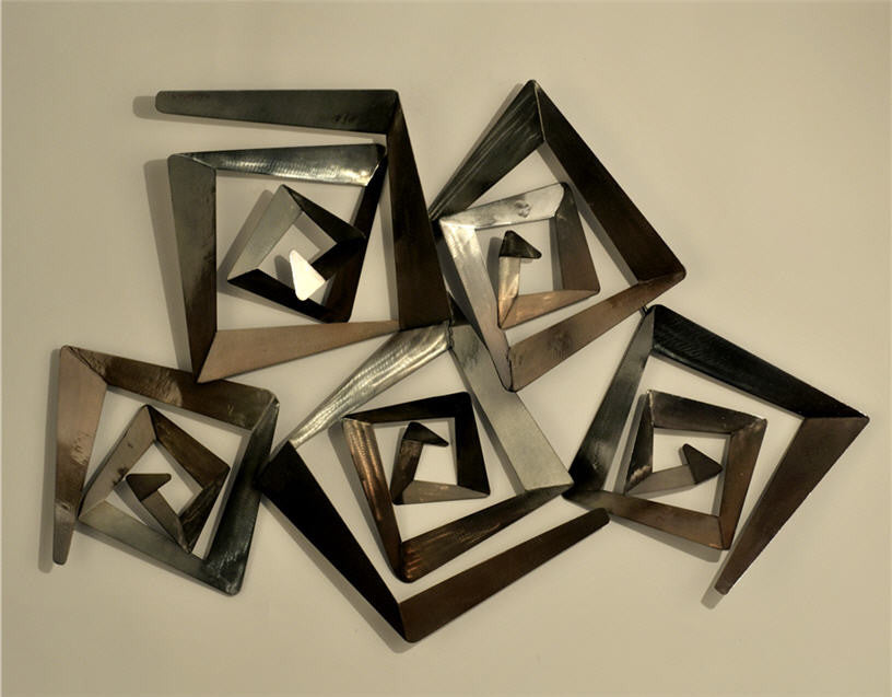 Inspiration Contemporary Bronze Steel Wall Sculpture