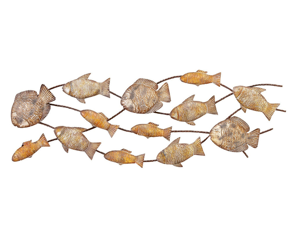Seventeen Fish Metal Wall Art