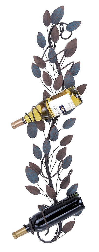 Azure Leaves Wine Wall Rack
