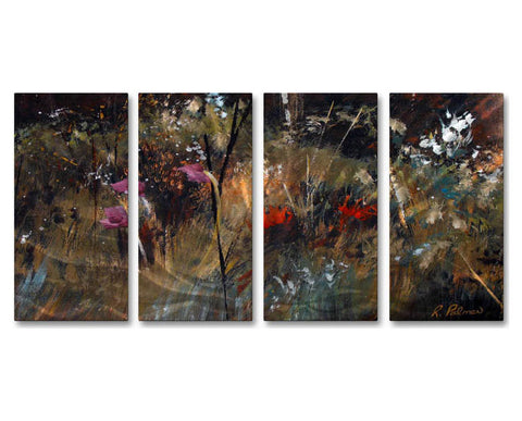 Amazed by Color Handmade Abstract Metal Wall Art Set of 4