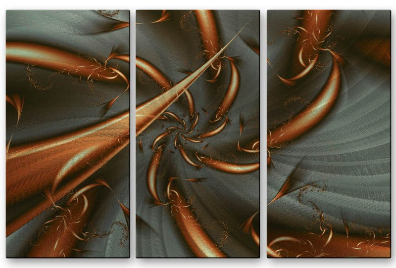 Descending Arcs of Copper Metal Art