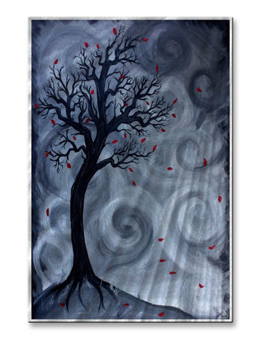 Forlorn Autumn Night Metal Art