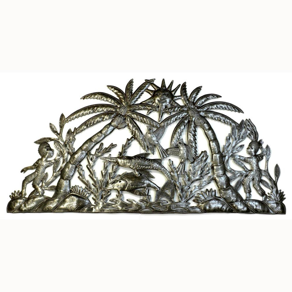 River in the Jungle Handmade Metal Wall Art