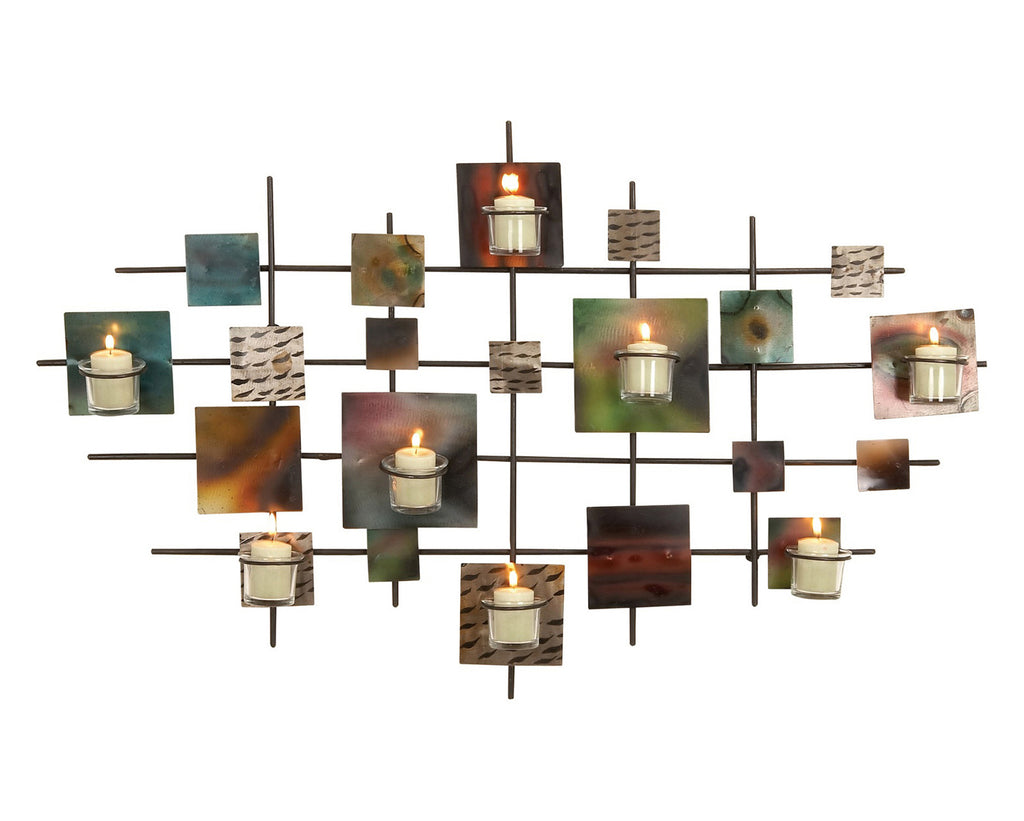 Color Fusion Modern Metal Candle Art