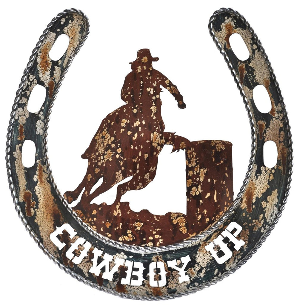 Barrel Racer Cowboy Wall Art
