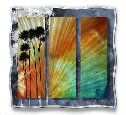 Rainbow in the Palms Metal Wall Hanging
