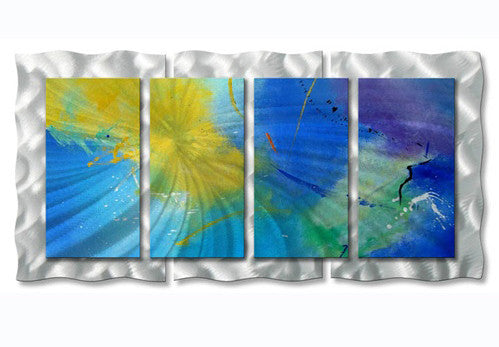 Cornflower Blue Metal Wall Art