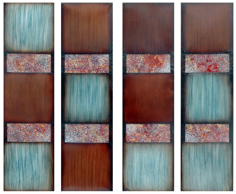 Aqua Dreams Metal Wall Art Set of 4