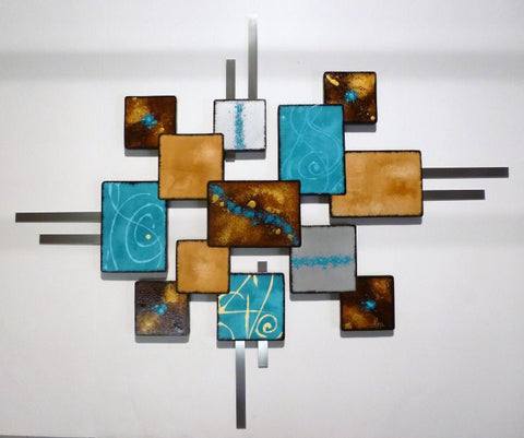 Above the Shapes Abstract Handmade Wood Wall Art