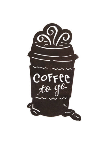 Coffee on the Run Metal Wall Hanging