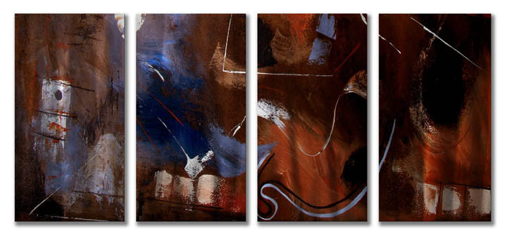 Beyond the Realm Four-Piece Abstract Metal Wall Art