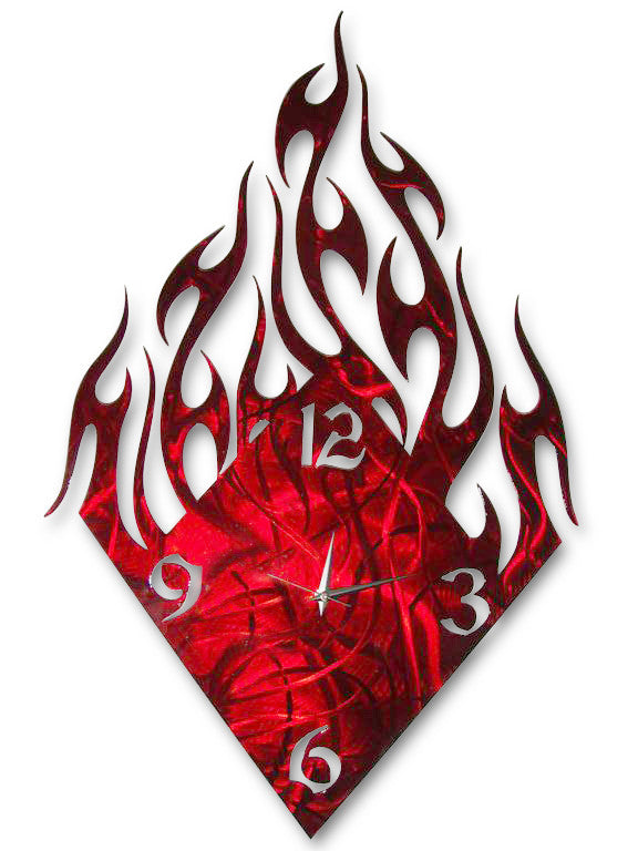 Oceanus Abstract Wall Sculpture Clock