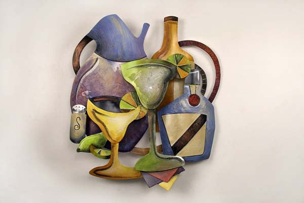 Flavors of Wine Country Metal Wall Sculpture