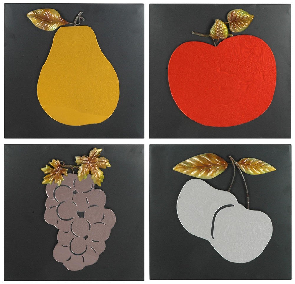 Fruits of Perfection Wall Plaque Set of 4