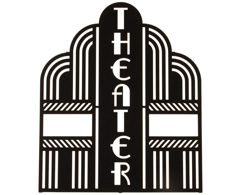 Theater Placard Metal Wall Hanging