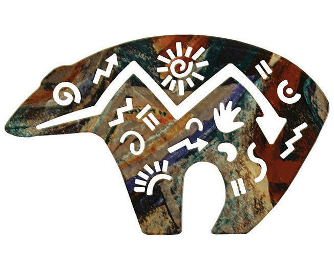 Cave Art Bear Metal Wall Art Sculpture