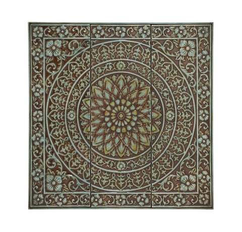 Floral Burst Wall Medallion