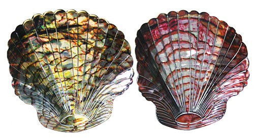 Jewelled Seashell Metal Wall Art Pair
