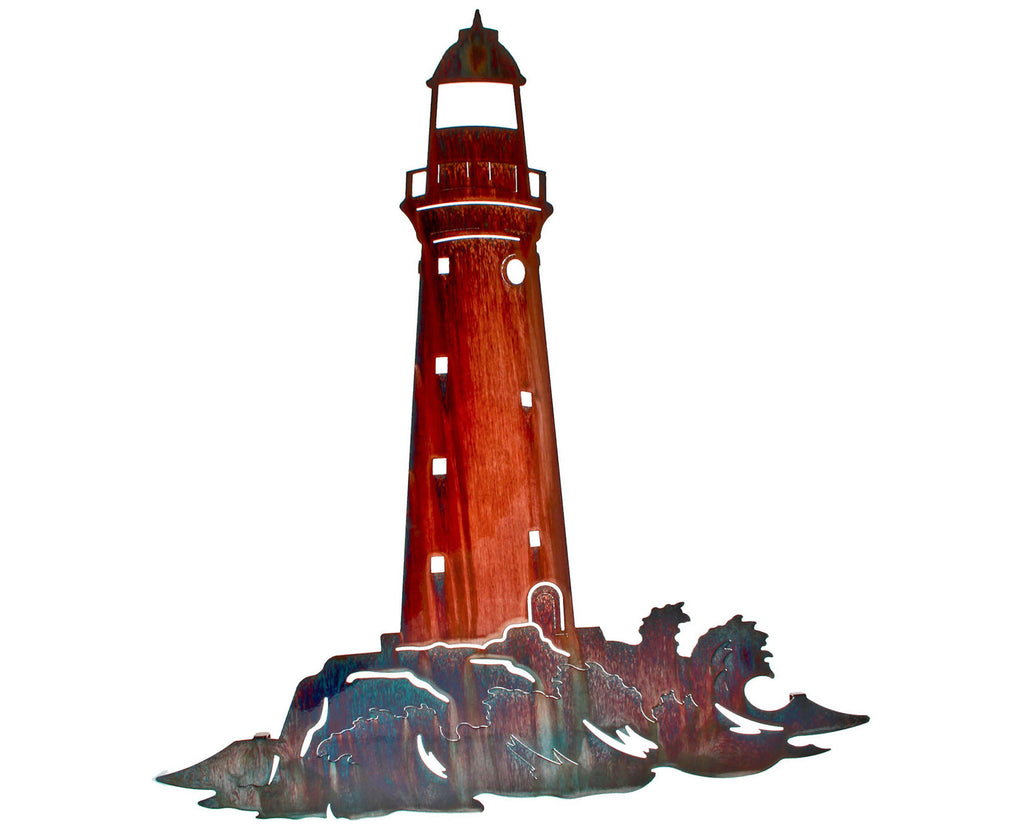 Coastal Beach Lighthouse Wall Art