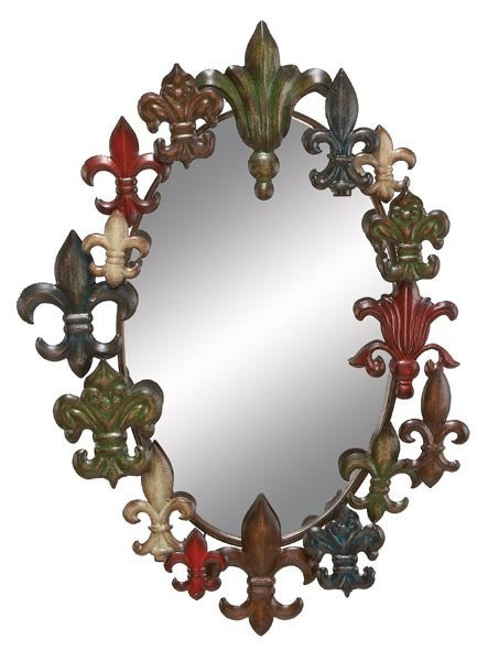 Royal Emblems Large Oval Wall Mirror