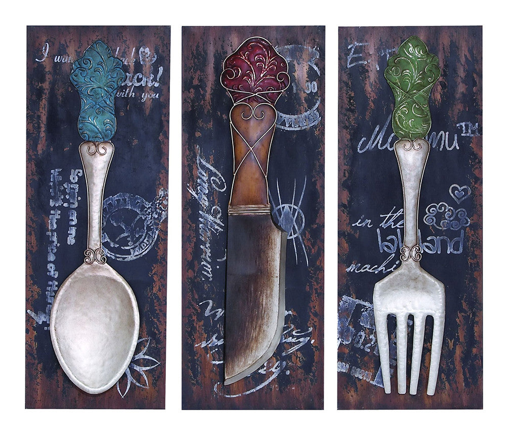 Dining in Luxury Wall Decor Set of 3