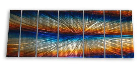 Caribbean Kaleidoscope Seven-Panel Metal Wall Art