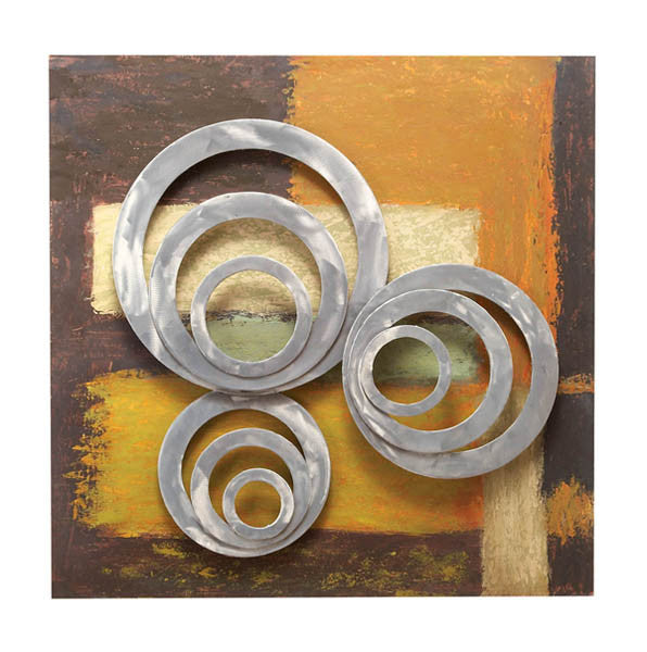 Circular Obsession 3D Hand-Painted Metal Wall Sculpture