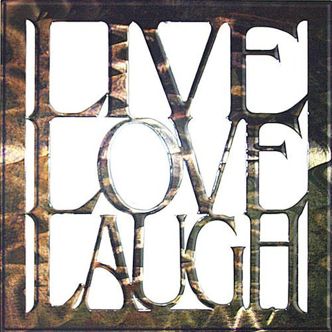 Cutout Live Love Laugh Metal Wall Hanging