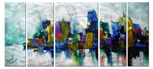 Urban Influence Abstract Panel Art