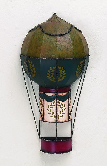 Fanciful Hot Air Balloon Metal Wall Sculpture