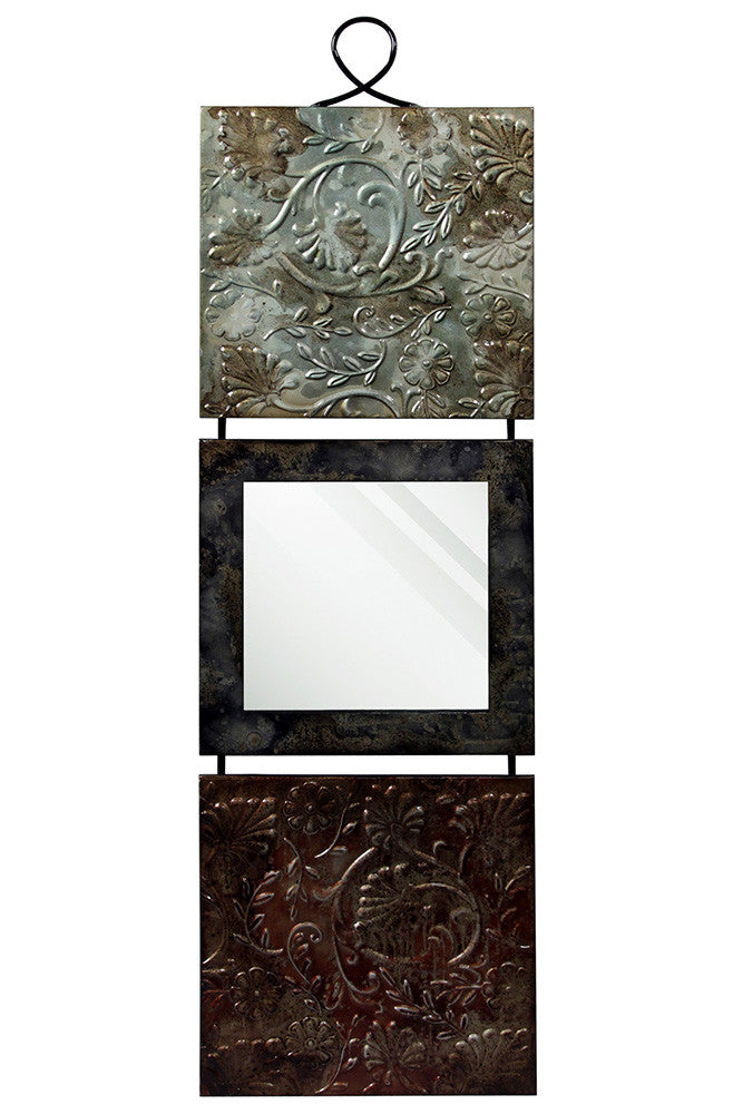 Scrolled Vine Squares Metal Wall Art